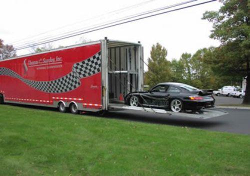 hard sided enclosed car carrier